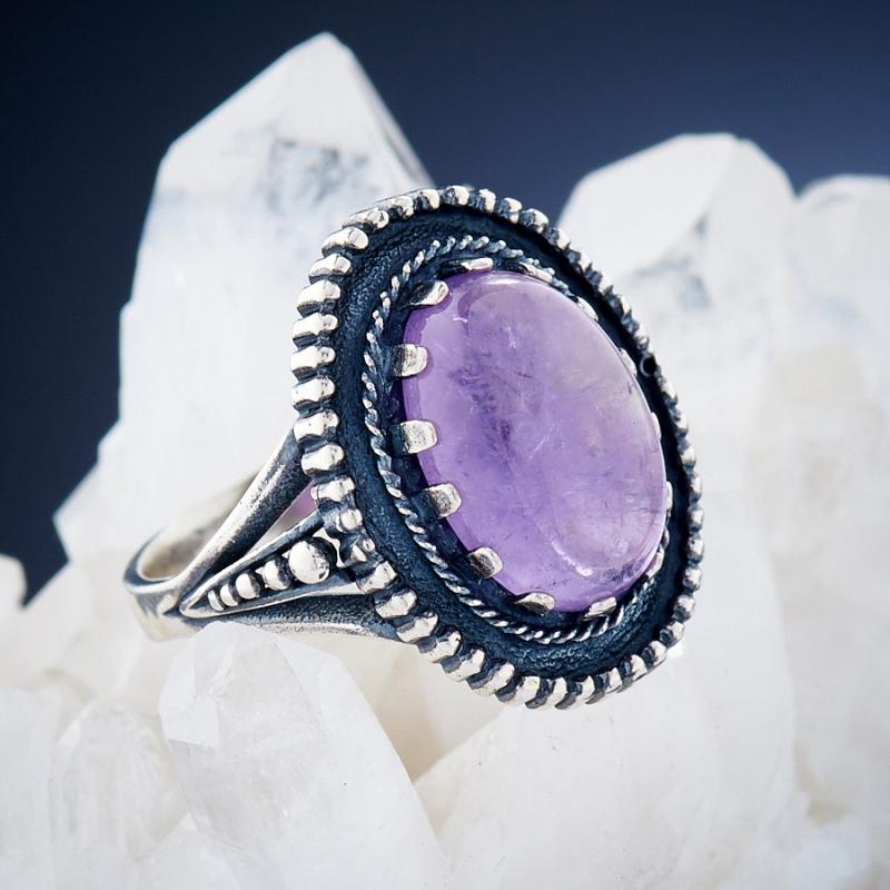 [del] Кольцо аметист Бразилия (серебро 925 пр.)  размер 20,5