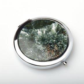 Зеркало клинохлор (серафинит) Россия (биж. сплав) 7,5 см