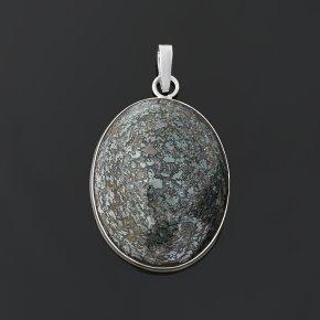 Кулон микс авантюрин, гематит (серебро 925 пр.) овал