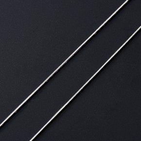 Цепь (серебро 925 пр. родир. бел.) полновесная снейк 50 см Россия