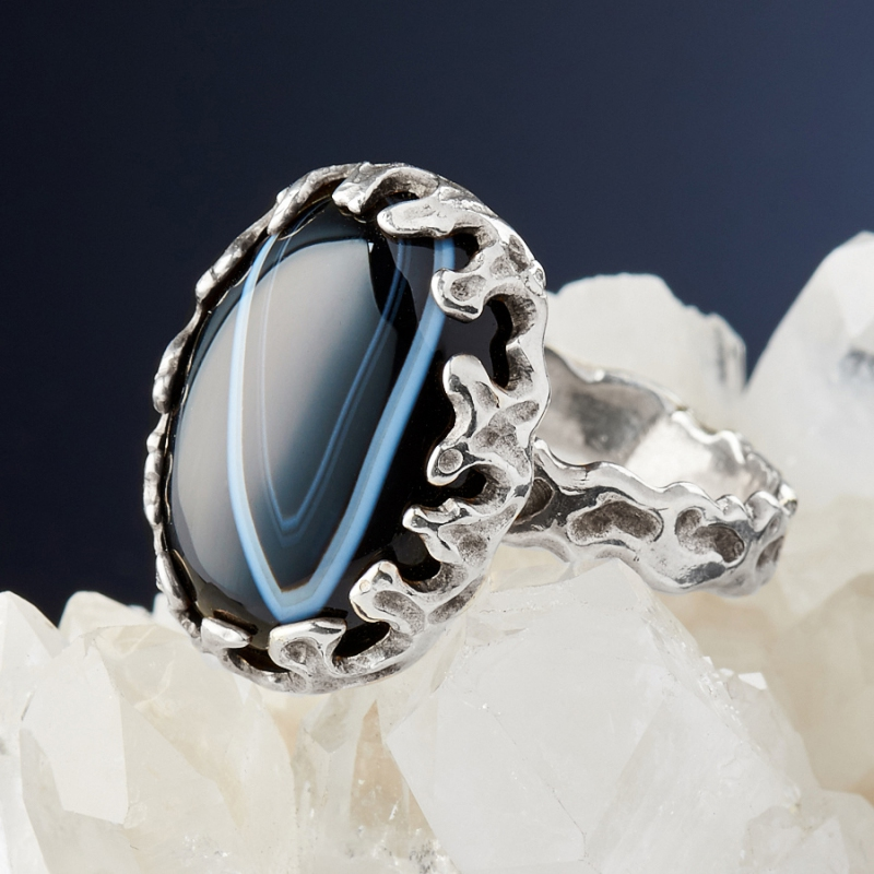 [del] Кольцо агат Бразилия (серебро 925 пр.)  размер 19