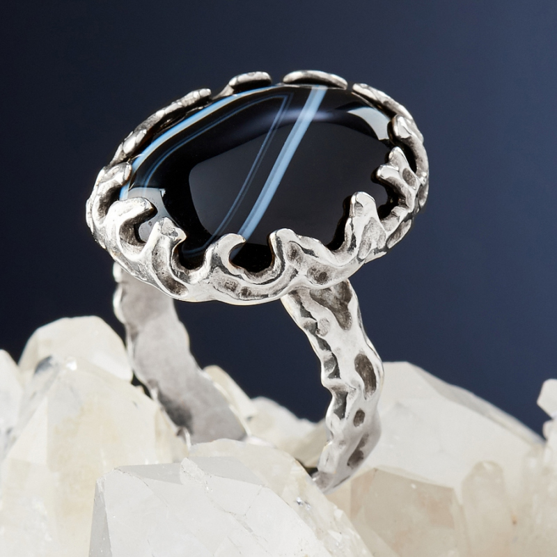 [del] Кольцо агат Бразилия (серебро 925 пр.)  размер 20