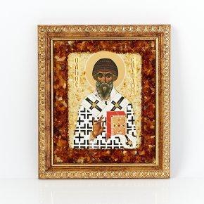 Изображение янтарь Россия Святой Спиридон 16х13,5см