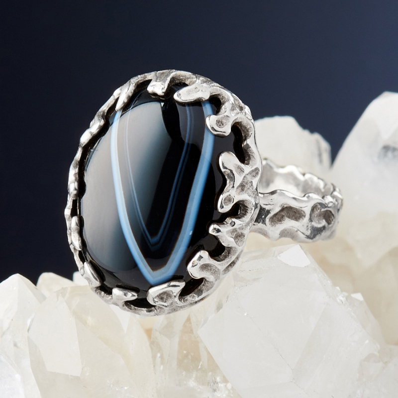 [del] Кольцо агат Бразилия (серебро 925 пр.)  размер 22