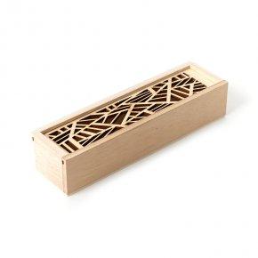 Шкатулка для хранения (дерево) камней/украшений (бежевый) 19,5х5,5х4 см