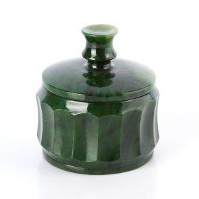 Шкатулка нефрит зеленый Россия 8,5х7,5см