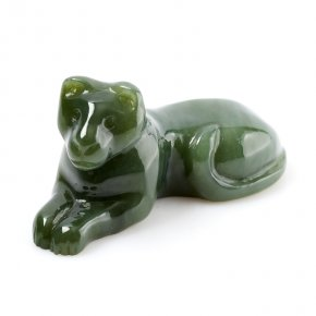 Тигр нефрит зеленый Россия 9см