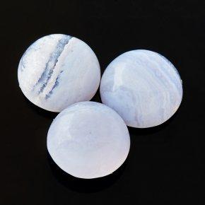 Кабошон голубой агат Намибия 8*8 мм