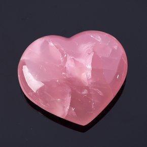Сердечко розовый кварц Мадагаскар 6,5см