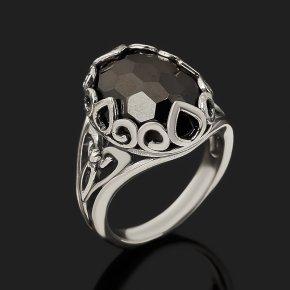 Кольцо шпинель черная Шри Ланка (серебро 925 пр. оксидир.) огранка размер 18