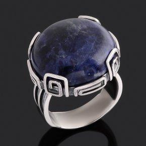 Кольцо содалит Бразилия (серебро 925 пр. оксидир.) размер 18
