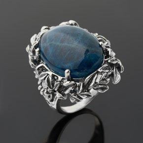 Кольцо апатит синий Бразилия (серебро 925 пр. оксидир.) размер 18,5