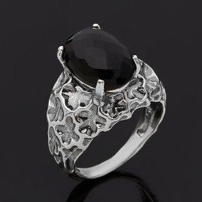 Кольцо шпинель черная Шри Ланка (серебро 925 пр. оксидир.) огранка размер 18,5