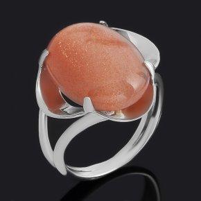 Кольцо солнечный камень Индия (серебро 925 пр.) размер 18
