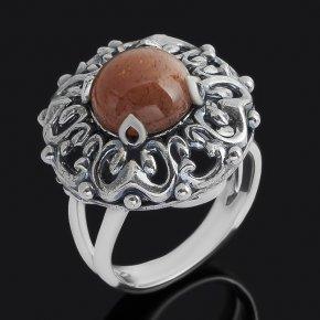 Кольцо солнечный камень Индия (серебро 925 пр. оксидир.) размер 18