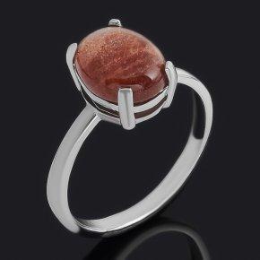 Кольцо солнечный камень Индия (серебро 925 пр.) размер 17