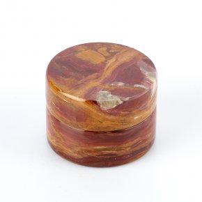 Шкатулка оникс мраморный коричневый Пакистан 4,5х6см