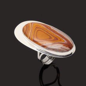 Кольцо яшма пестроцветная Марокко (серебро 925 пр. родир. бел.) (регулируемый) размер 17,5