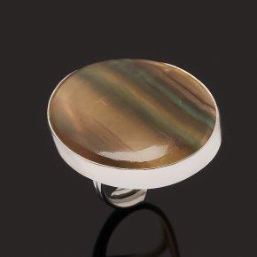 Кольцо флюорит (серебро 925 пр. родир. бел.) (регулируемый) размер 17