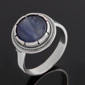 Кольцо кианит синий Бразилия (серебро 925 пр. оксидир.) размер 17,5