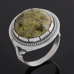 Кольцо змеевик Россия (серебро 925 пр. оксидир.) размер 16,5