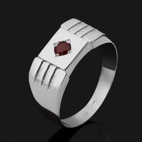 Кольцо рубин Мьянма (серебро 925 пр. родир. бел.) огранка размер 23