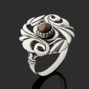 Кольцо жемчуг черный Гонконг (серебро 925 пр. оксидир.) размер 18