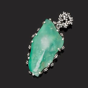 Кулон хризопраз Казахстан (серебро 925 пр. оксидир.)