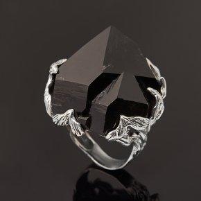 Кольцо морион Россия (серебро 925 пр. оксидир.) размер 17,5
