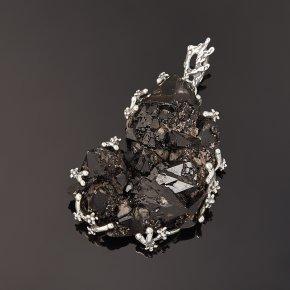 Кулон морион Россия (серебро 925 пр. оксидир.) кристалл
