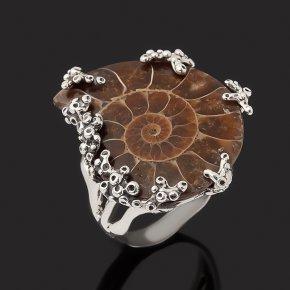 Кольцо окаменелость Россия (серебро 925 пр. оксидир.) размер 18