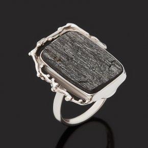 Кольцо авантюрин черный Россия (серебро 925 пр. оксидир.) размер 17