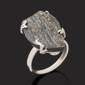 Кольцо авантюрин черный (дублет) Россия (серебро 925 пр.) размер 17,5