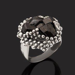 Кольцо гранат меланит Казахстан (серебро 925 пр. оксидир.) размер 18