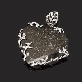 Кулон кварц с хлоритом Россия (серебро 925 пр. оксидир.)