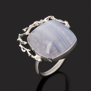 Кольцо агат голубой Бразилия (серебро 925 пр. оксидир.) размер 17,5