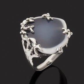 Кольцо кахолонг (дублет) Россия (серебро 925 пр. оксидир.) размер 18