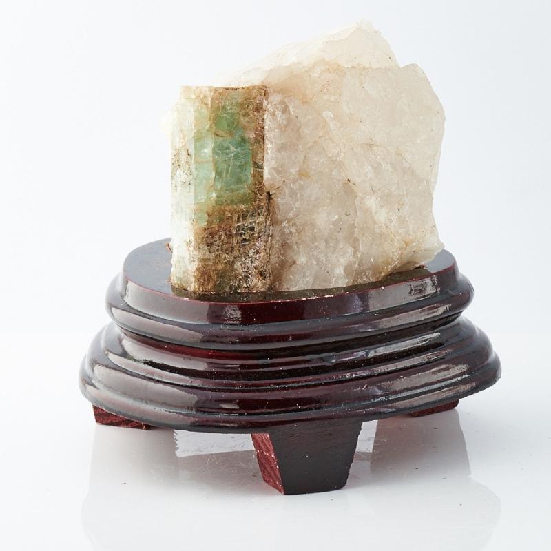 Кристалл в породе аквамарин  87х78х68 мм