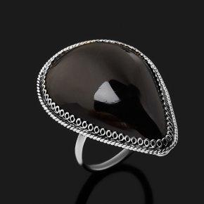 Кольцо обсидиан прозрачный Армения (нейзильбер) размер 19