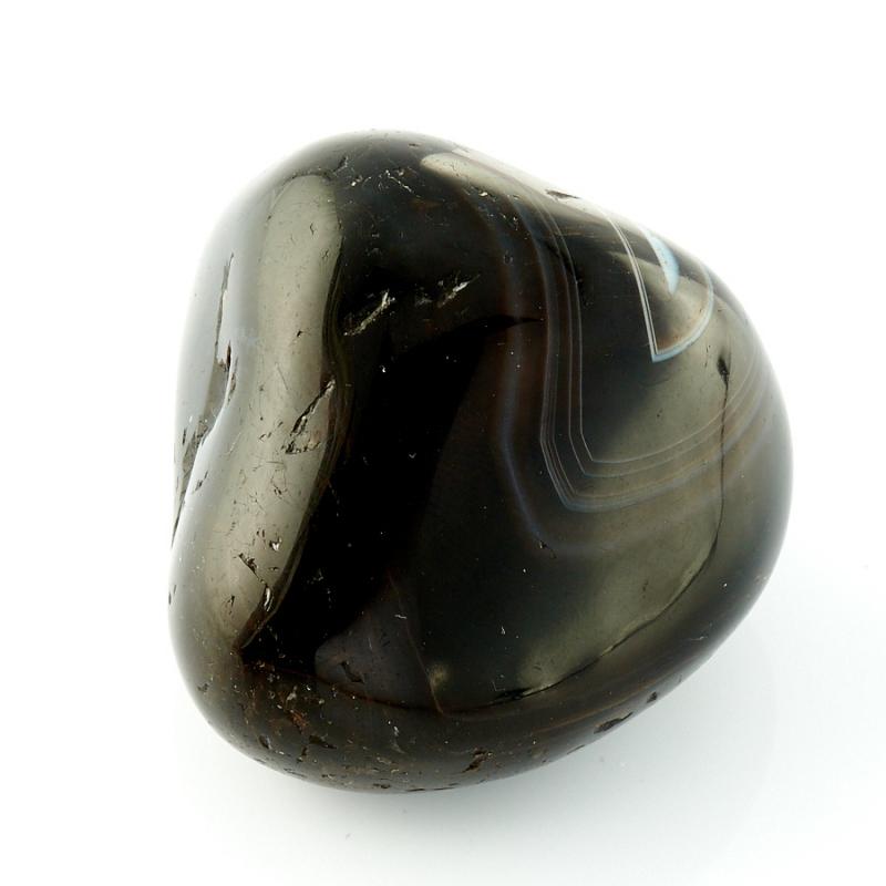 Галтовка  Агат черный Бразилия 4 см