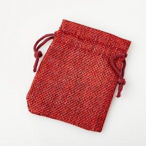 Подарочная упаковка (текстиль) универсальная (мешочек плоский) (красный) 90х70мм