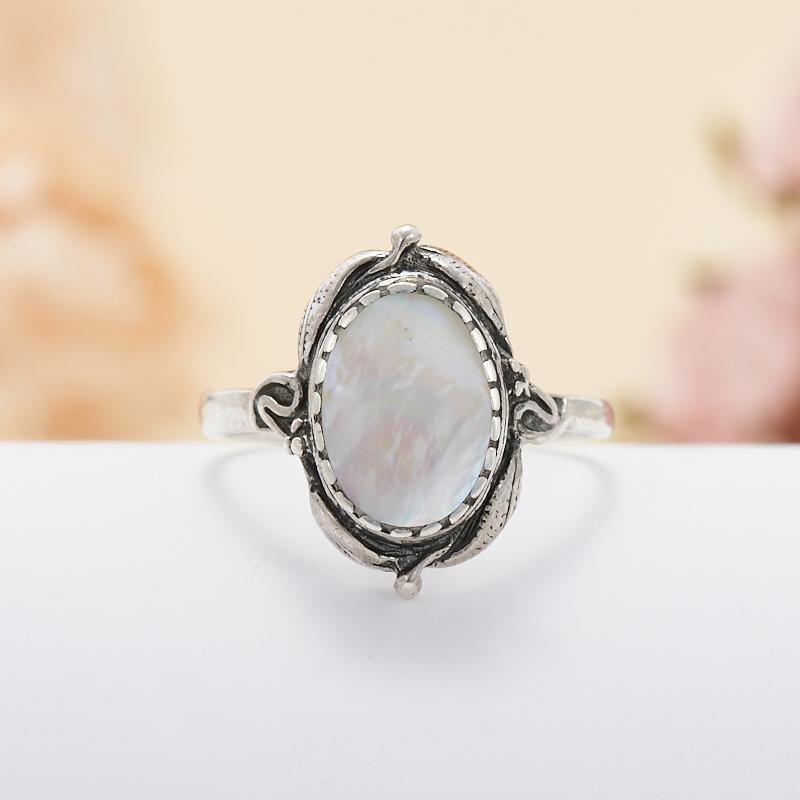 Кольцо перламутр  (серебро 925 пр.)  размер 17
