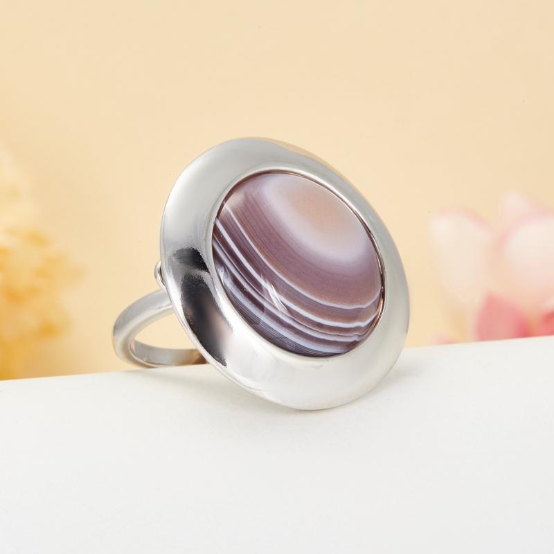 Кольцо агат  (серебро 925 пр.)  размер 20,5
