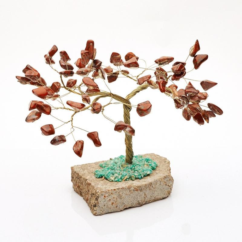 Дерево счастья яшма красная ЮАР 14 см