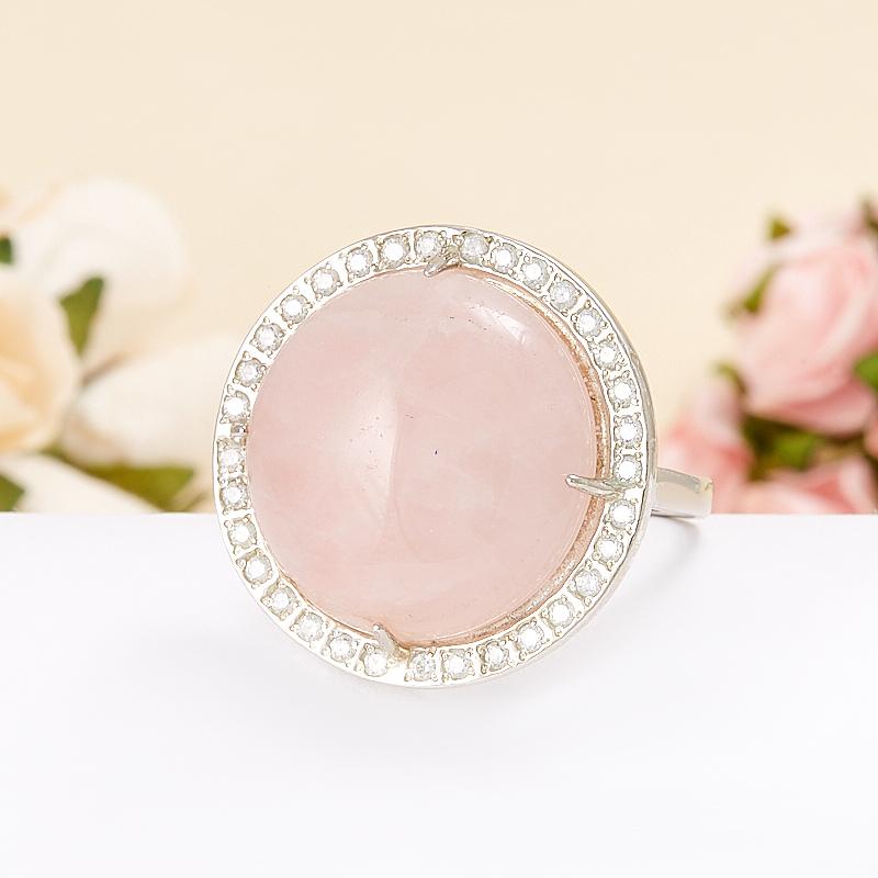 Кольцо розовый кварц  (серебро 925 пр.)  размер 20 кольцо лазурит серебро 925 пр размер 20