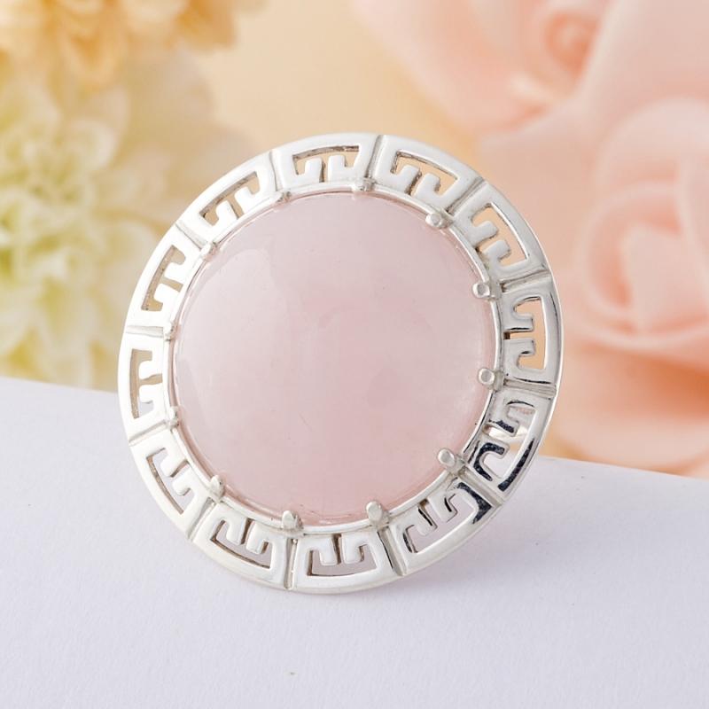 Кольцо розовый кварц  (серебро 925 пр.)  размер 20,5