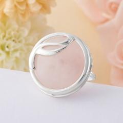 Кольцо розовый кварц Намибия (серебро 925 пр.)  размер 18,5