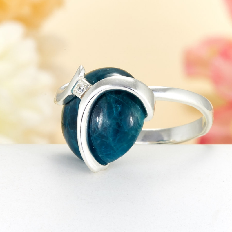 Кольцо апатит Бразилия (серебро 925 пр.)  размер 19,5