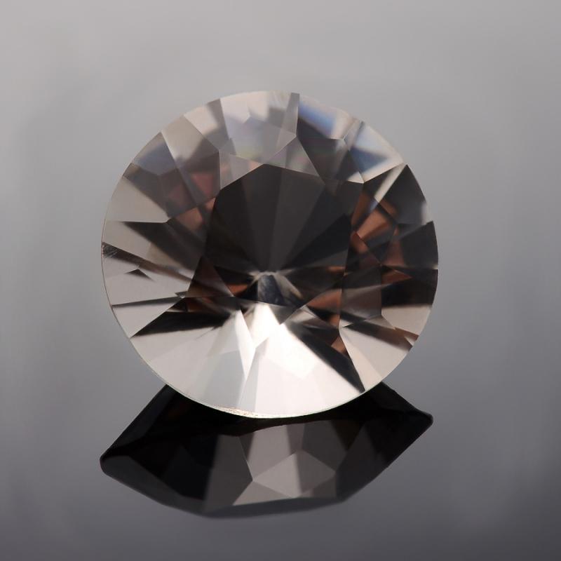 Огранка раухтопаз  (Урал) круглая 15 мм 10 карат 1 шт