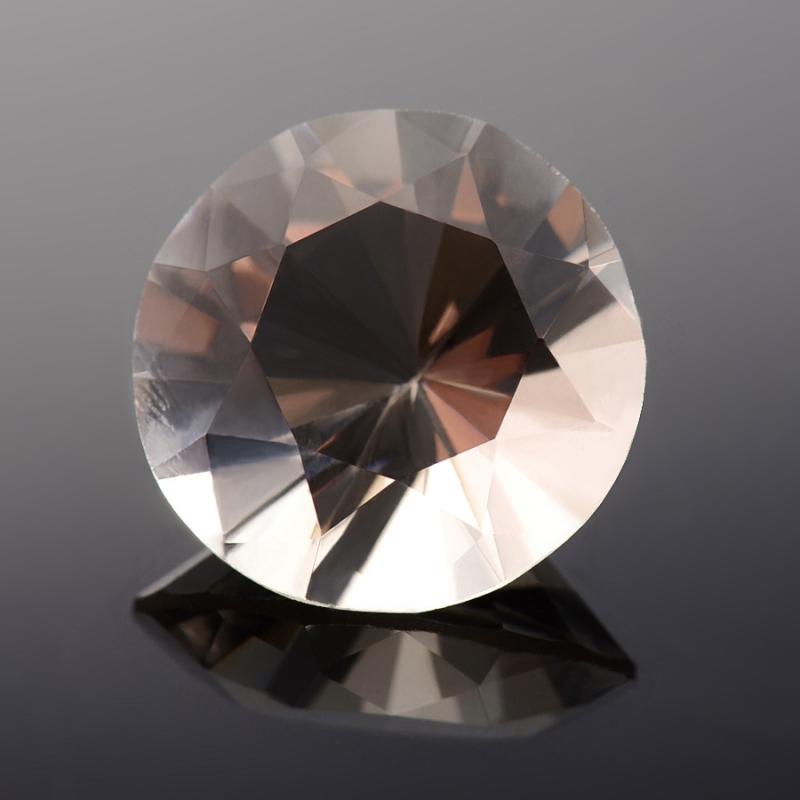 Огранка раухтопаз  (Урал) круглая 13 мм 6,5 карат 1 шт